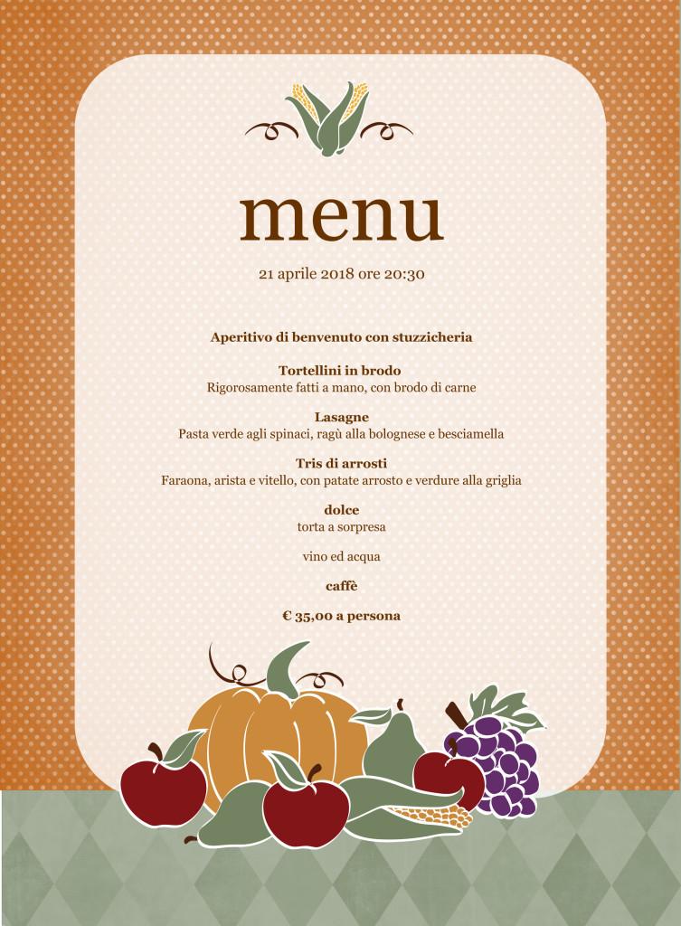 Menu (harvest design)